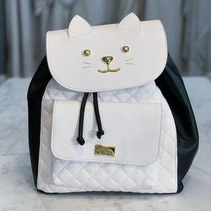 Betsey Johnson Cat Backpack
